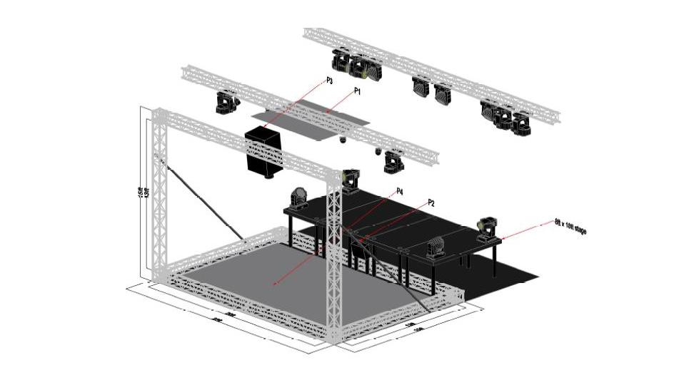 Goalpost setup