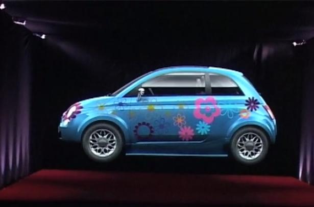 Fiat 500 hologram eyeCandy